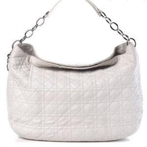 Christian Dior Quilted Cannage Hobo Shoulder Bag
